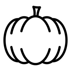 gz471 GrafikZeichnung - german - Kürbis. english - pumpkin icon: simple template isolated on white background - close-up - square - xxl g8534
