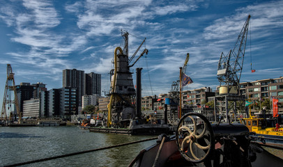 Foto auf Leinwand Rotterdam Port central de Rotterdam, Pays-Bas