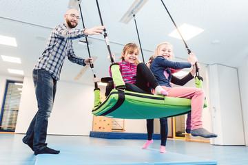Sport in the kindergarten gym