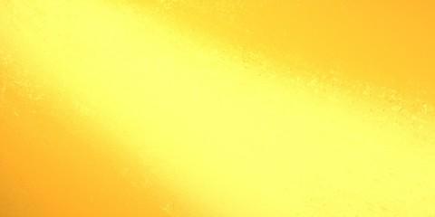 Bold bright yellow streak of light in diagonal down spotlight design on orange textured background in abstract illustration