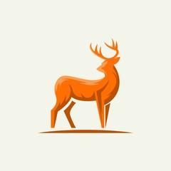 Deer logo illustration - vector design