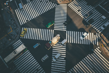 Overhead view of Ginza Cross, Tokyo, Japan