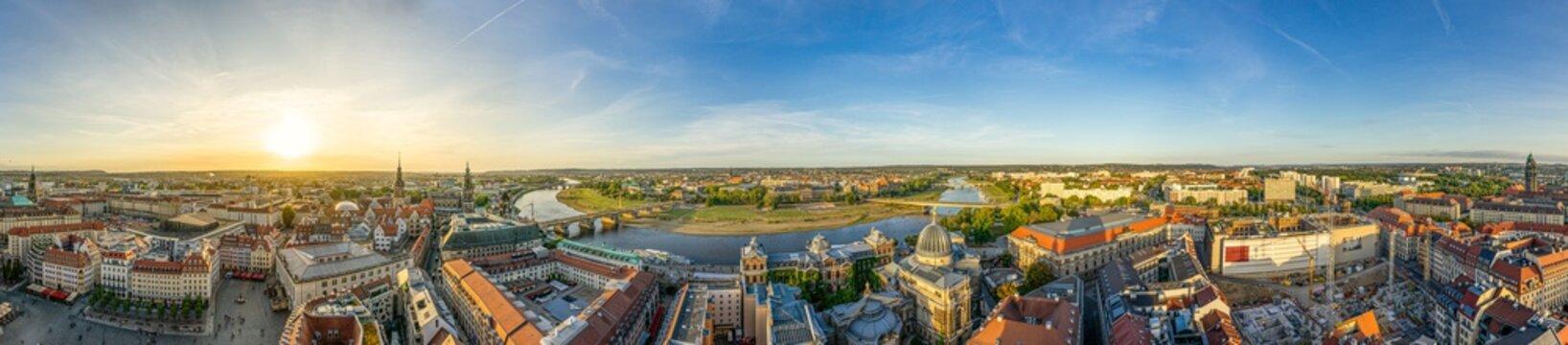Panorama über Dresden