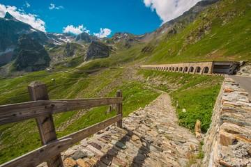 Wall Mural - Italian St Bernard Pass Road