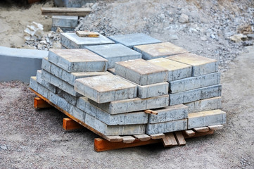 Stack of paving stone