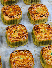 Mooncake, a seasonal pastry eaten during the Mid-Autumn festival in the lunar calendar in China and East Asia