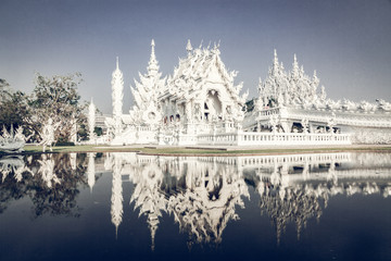 wat Rong Khun The famous White Temple in Chiang Rai, Thailand