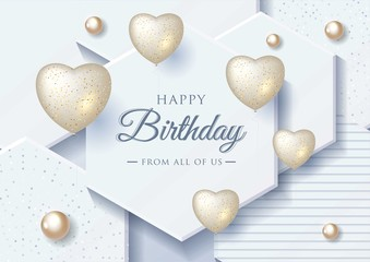Happy Birthday celebration typography design for greeting card