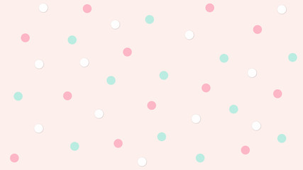 Abstract kawaii pattern with Circle background. Soft gradient pastel Comic graphic. Concept for wedding card design or presentation