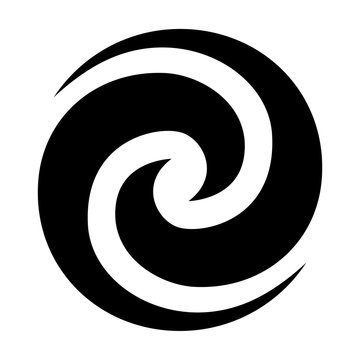 Maori Koru double Spiral black