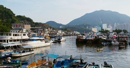 Fotomurales - Hong Kong fishing village