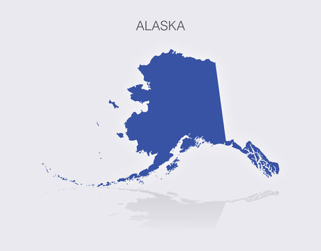 State of Alaska Map in the United States of America