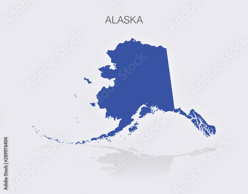 State of Alaska Map in the United States of America\
