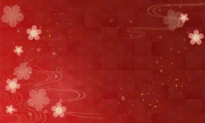 シックな桜の和風背景素材
