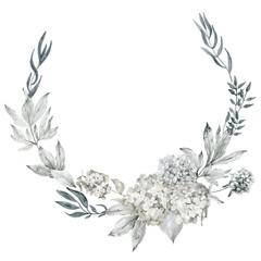Flower sketch wreath