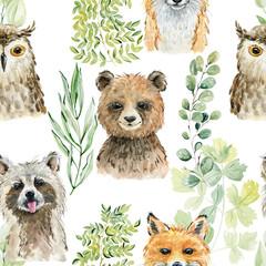 Ilustracja akwarela zwierząt - 289983451