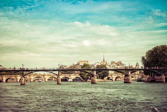 Paris Pont De Arts Bridge Seine River Crossing