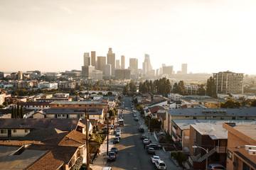 Los Angeles Skycrapers Sunset