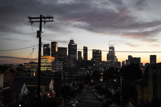 Los Angeles Cityscape by Night