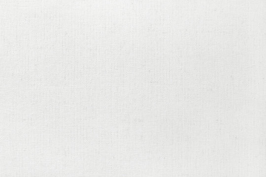 White cotton fabric texture background, seamless pattern of natural textile.