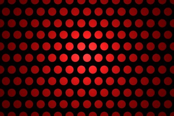 Seamless Polka Dot Background - Abstract Black And Red Shiny Template