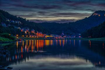 Sächsische Schweiz 2019 Nachtaufnahme HDR Spiegelung