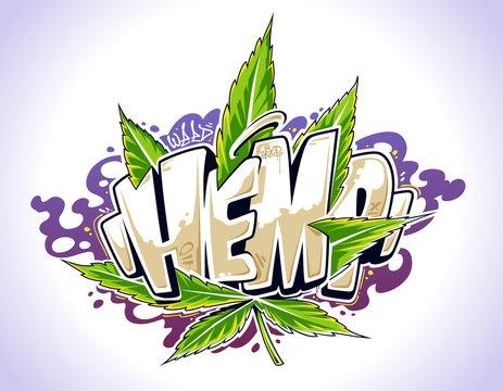 Hemp Graffiti Vector Art