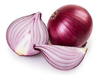 Fototapeta Fresh red onion on white background obraz