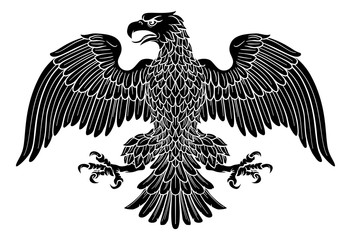 Eagle possibly German, Roman, Russian, American or Byzantine imperial heraldic symbol
