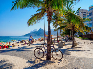 Fotobehang - Ipanema beach and Arpoador beach in Rio de Janeiro. Brazil