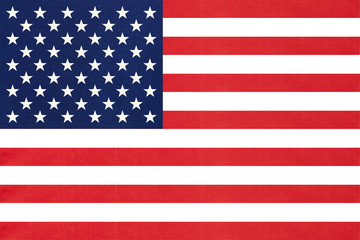 United states of America national fabric flag textile background. Symbol of international world American country.