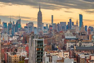 New York City, USA midtown Manhattan skyline