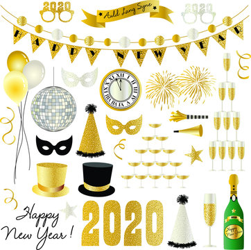 2020 New Years Eve graphics