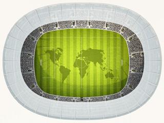 Fussballstadion Topview