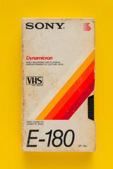 Sony VHS video cassette, retro video technology