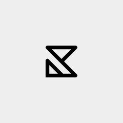 Fototapeta Letter K AK KA R Monogram Logo Design Minimal Icon obraz