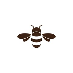 Bee logo vector icon
