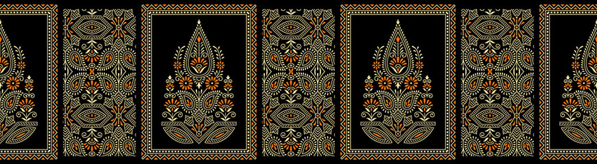 Seamless border based on traditional Asian element