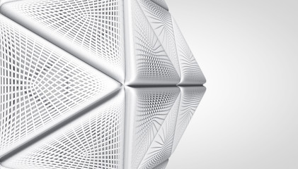 Wall Mural - Abstract white Architecture Background. 3d Render illustration.