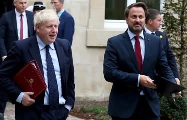 British Prime Minister Boris Johnson visits Luxembourg