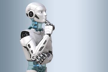 Thinking robot. 3D illustration