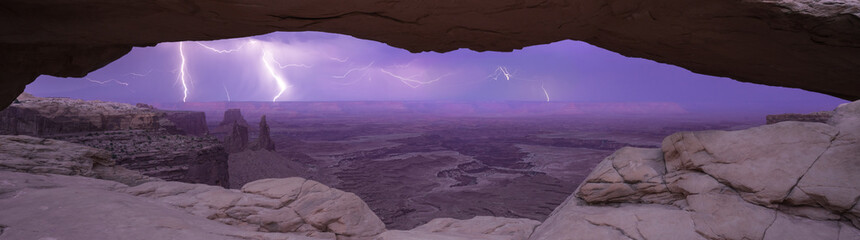 Mesa Arch lightning show Canyonlands National Park, Utah