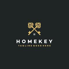 Elegant Keys Logo Icon Design