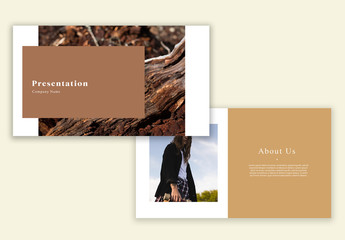 Minimalist Brand Presentation Layout