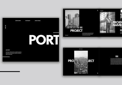 Minimalist Black Portfolio Layout