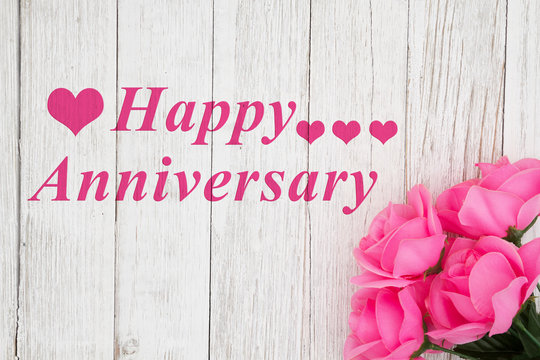 Happy Anniversary Greeting with roses