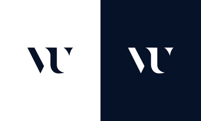 Abstract letter VU logo. This logo icon incorporate with abstract shape in the creative way.