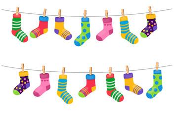 Set of colorful socks
