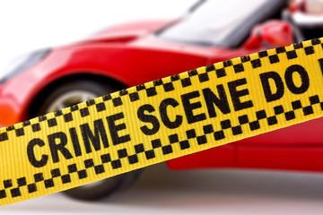 Car crime scene concept