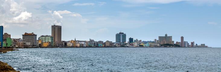 Autocollant pour porte Havana Skyline of La Habana